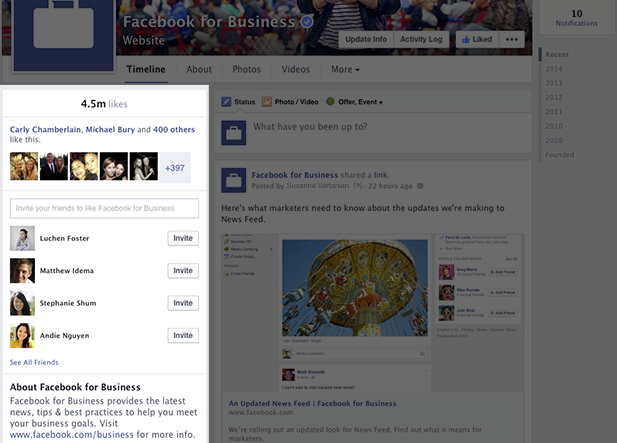 Facebook Fanpage Refresh - Your Infor Is Now On The Left