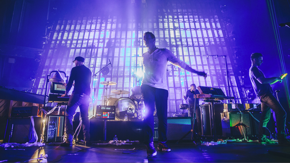 Coldplay live - a photo the band shared on Google Plus